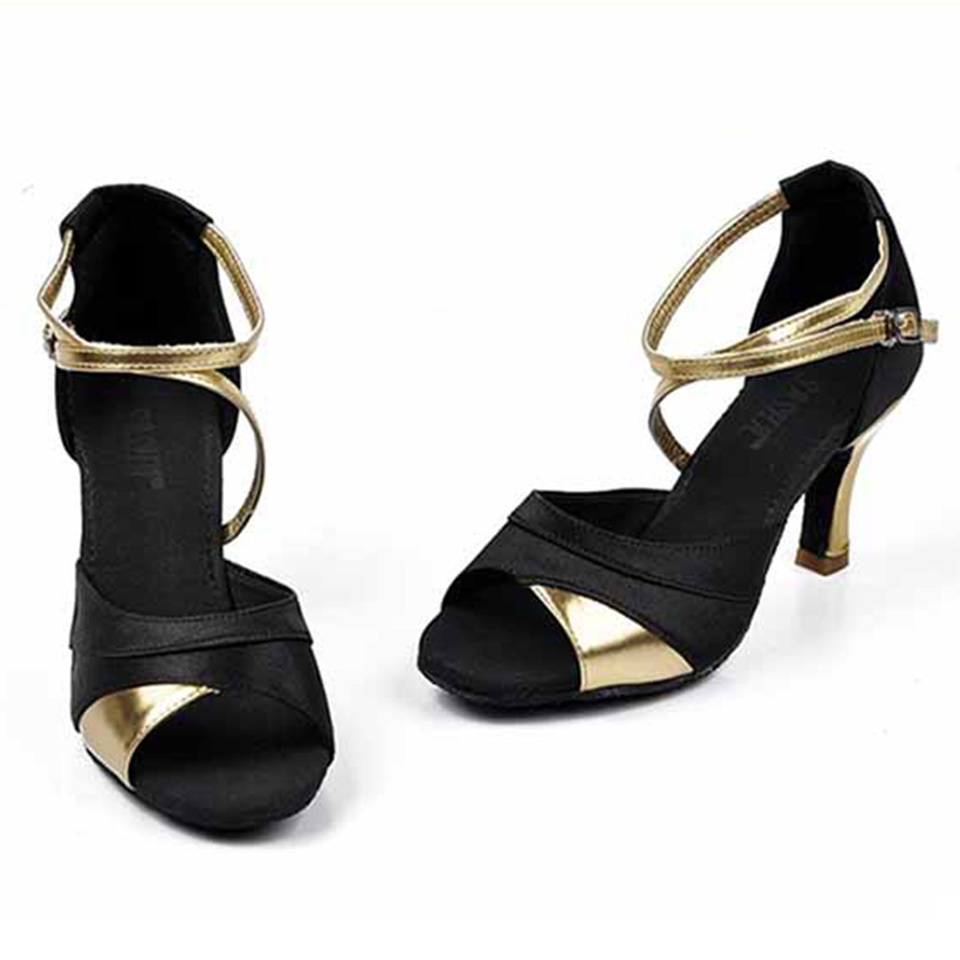 Black Dance Shoes With Heels