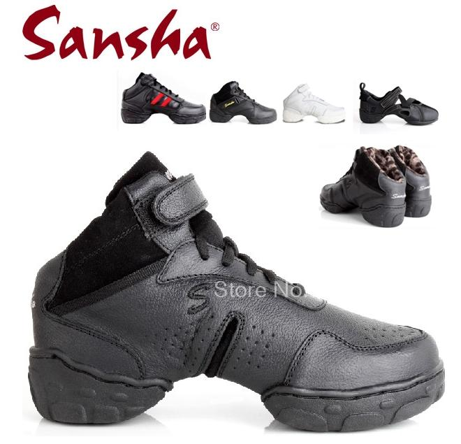 09668a056 Sansha original women and men ballroom salsa jazz dance shoes Genuine  leather Top quality with breathable dance sneakers