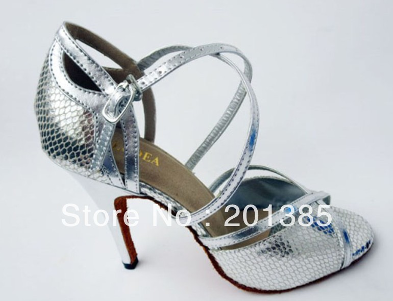 d67a4a6b667017 Wholesale Ladies Silver Snakeskin Leather LATIN Ballroom Dance Shoes Salsa  Tango Samba Dancing Shoes 34